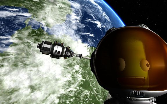 here is one of the last photos we processed from Cmdr Jeb's flight. A fitting tribute, we think. RIP brave soul